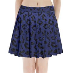 SKN5 BK-MRBL BL-LTHR Pleated Mini Skirt