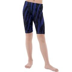 SKN3 BK-MRBL BL-LTHR Kids  Mid Length Swim Shorts