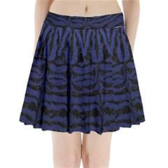 SKN2 BK-MRBL BL-LTHR (R) Pleated Mini Skirt