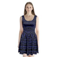 SKN2 BK-MRBL BL-LTHR (R) Split Back Mini Dress
