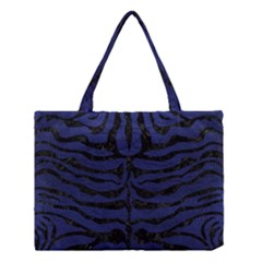SKN2 BK-MRBL BL-LTHR (R) Medium Tote Bag