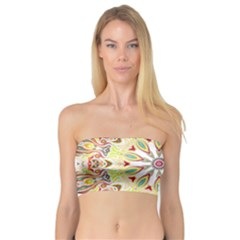 Intricate Flower Star Bandeau Top