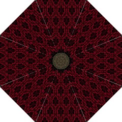 Elegant Black And Red Damask Antique Vintage Victorian Lace Style Straight Umbrellas