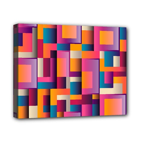 Abstract Background Geometry Blocks Canvas 10  x 8