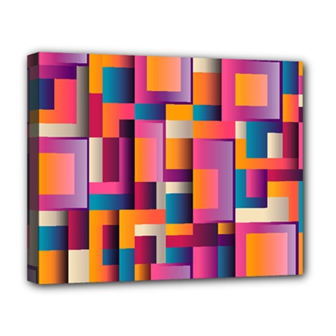 Abstract Background Geometry Blocks Deluxe Canvas 20  x 16