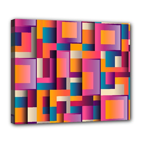Abstract Background Geometry Blocks Deluxe Canvas 24  x 20