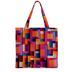 Abstract Background Geometry Blocks Grocery Tote Bag