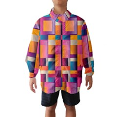 Abstract Background Geometry Blocks Wind Breaker (kids)