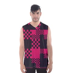 Cube Square Block Shape Creative Men s Basketball Tank Top