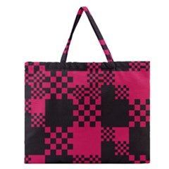 Cube Square Block Shape Creative Zipper Large Tote Bag