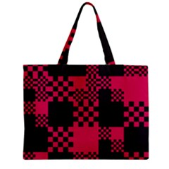Cube Square Block Shape Creative Medium Zipper Tote Bag