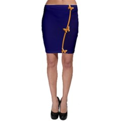 Greeting Card Invitation Blue Bodycon Skirt