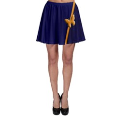 Greeting Card Invitation Blue Skater Skirt