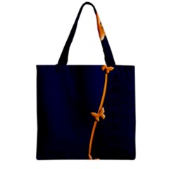Greeting Card Invitation Blue Grocery Tote Bag