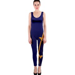 Greeting Card Invitation Blue OnePiece Catsuit