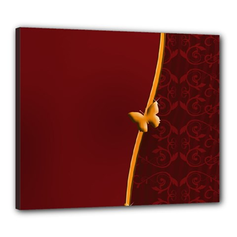 Greeting Card Invitation Red Canvas 24  X 20