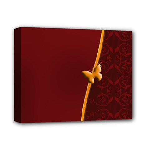 Greeting Card Invitation Red Deluxe Canvas 14  x 11
