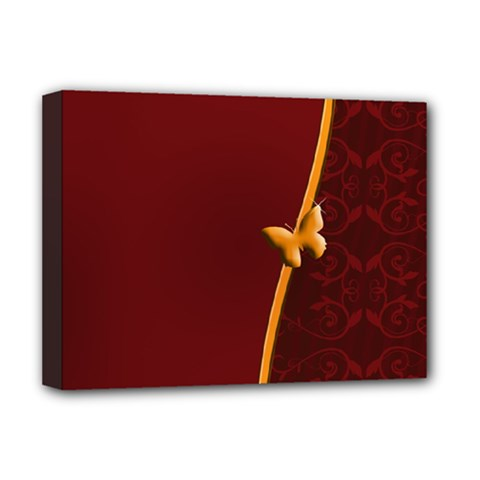 Greeting Card Invitation Red Deluxe Canvas 16  x 12