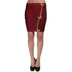 Greeting Card Invitation Red Bodycon Skirt