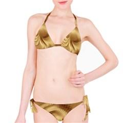 Gold Background Texture Pattern Bikini Set