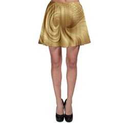 Gold Background Texture Pattern Skater Skirt