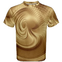 Gold Background Texture Pattern Men s Cotton Tee
