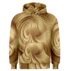 Gold Background Texture Pattern Men s Pullover Hoodie