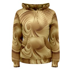 Gold Background Texture Pattern Women s Pullover Hoodie