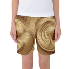 Gold Background Texture Pattern Women s Basketball Shorts