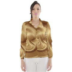 Gold Background Texture Pattern Wind Breaker (women)
