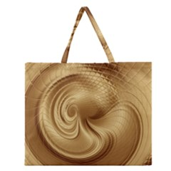 Gold Background Texture Pattern Zipper Large Tote Bag