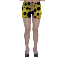 Background Design Random Balls Skinny Shorts