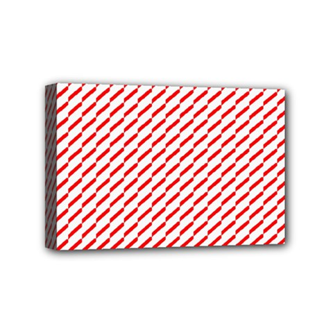Pattern Red White Background Mini Canvas 6  x 4