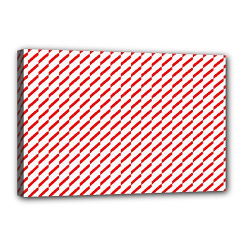 Pattern Red White Background Canvas 18  x 12