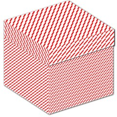 Pattern Red White Background Storage Stool 12