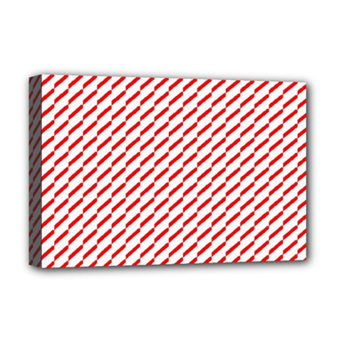 Pattern Red White Background Deluxe Canvas 18  x 12