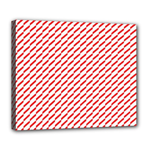 Pattern Red White Background Deluxe Canvas 24  x 20