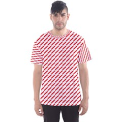 Pattern Red White Background Men s Sport Mesh Tee