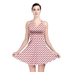 Pattern Red White Background Reversible Skater Dress