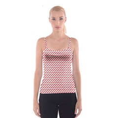 Pattern Red White Background Spaghetti Strap Top
