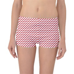 Pattern Red White Background Boyleg Bikini Bottoms