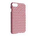 Pattern Red White Background Apple iPhone 7 Hardshell Case View3