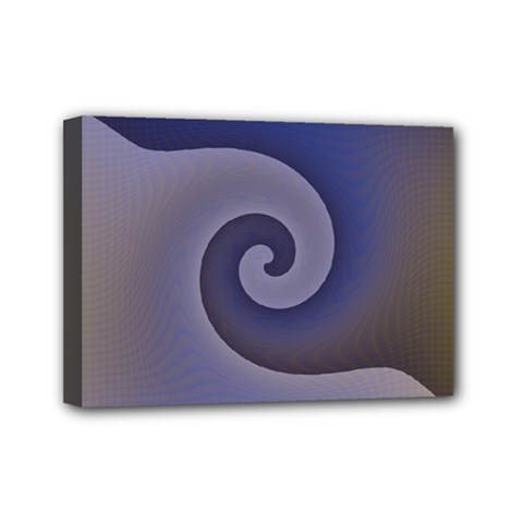 Logo Wave Design Abstract Mini Canvas 7  X 5