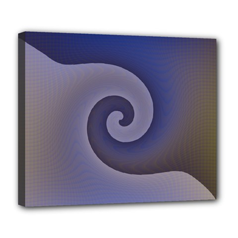 Logo Wave Design Abstract Deluxe Canvas 24  x 20
