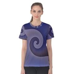 Logo Wave Design Abstract Women s Cotton Tee