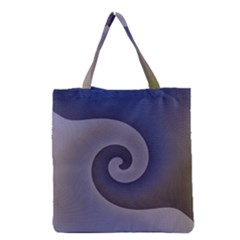 Logo Wave Design Abstract Grocery Tote Bag