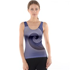 Logo Wave Design Abstract Tank Top