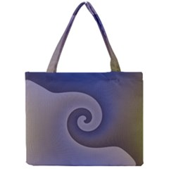 Logo Wave Design Abstract Mini Tote Bag