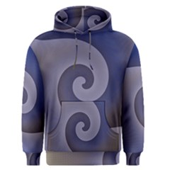 Logo Wave Design Abstract Men s Pullover Hoodie