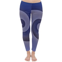 Logo Wave Design Abstract Classic Winter Leggings